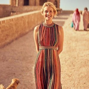 Anthropologie Artista Bohemian Maxi Dress Bl-nk
